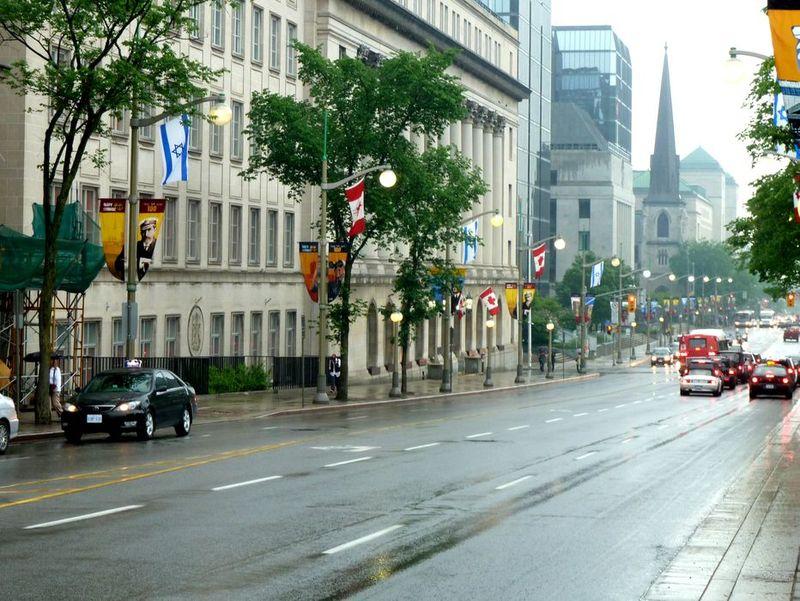 P1000317 Israeli Flags, Wellington Ave, Ottawa