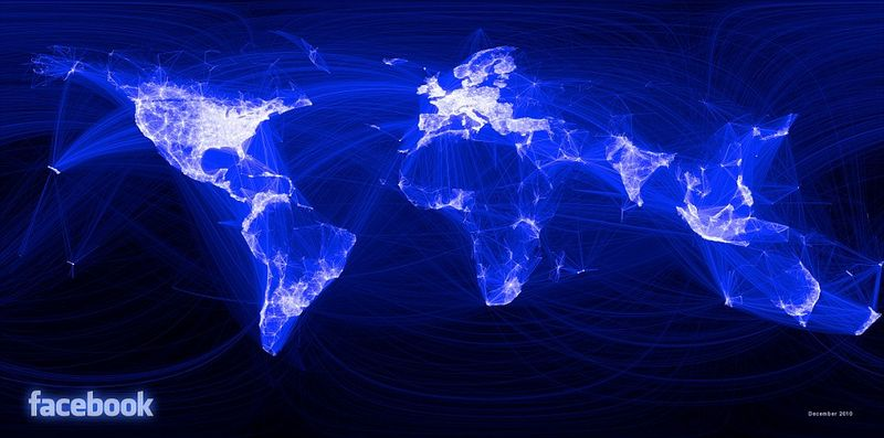 Facebook and the world map