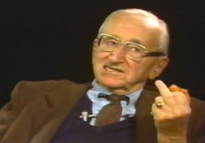Hayek official gesture