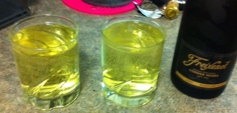 One bottle just fills two glasses