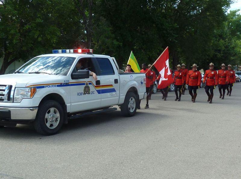 P1020447 Mounties led parade