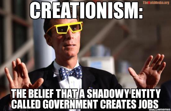 Gubmnt creating jobs