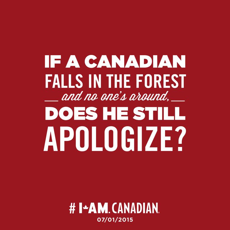 I am Canadian tree apology